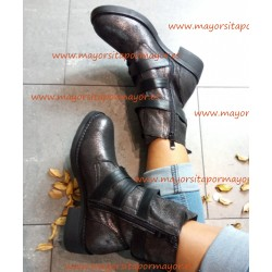 Botines mujeres color negro...