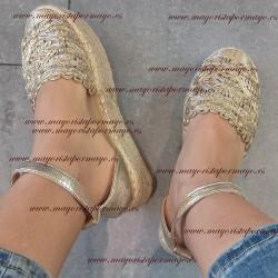 Sandalias plataforma beige...